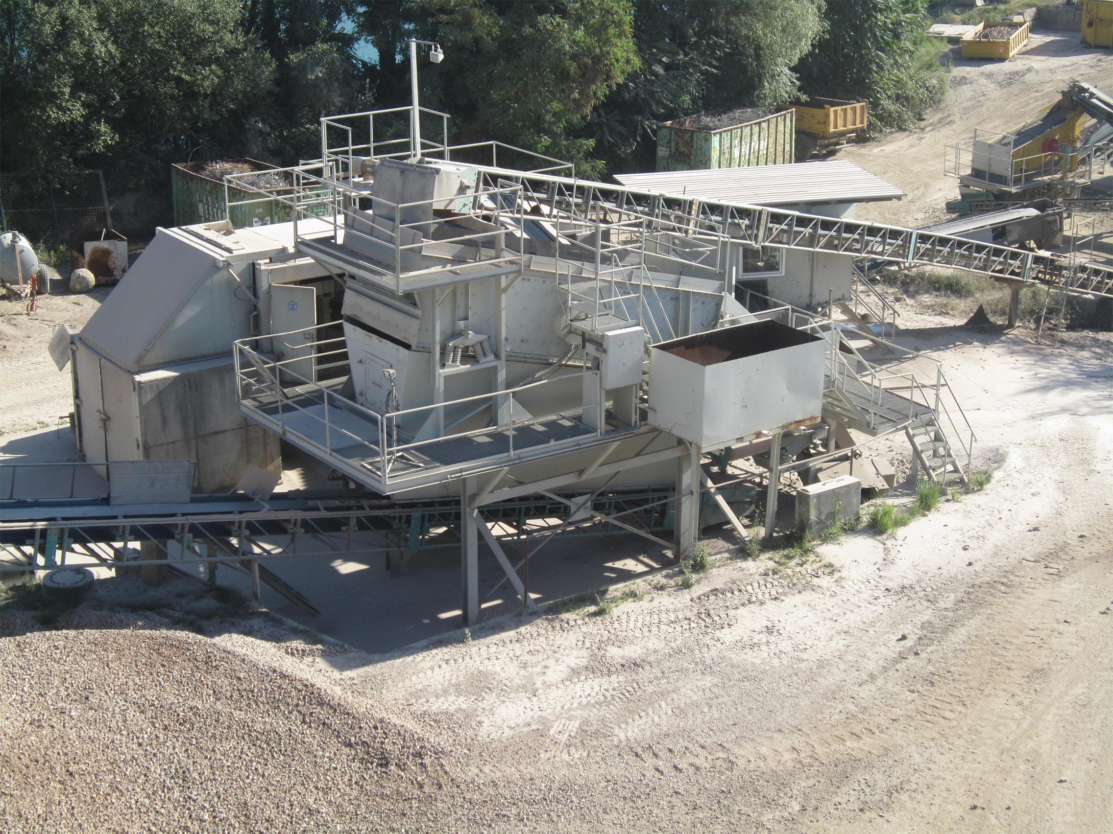 Baustoffrecycling Siebanlage